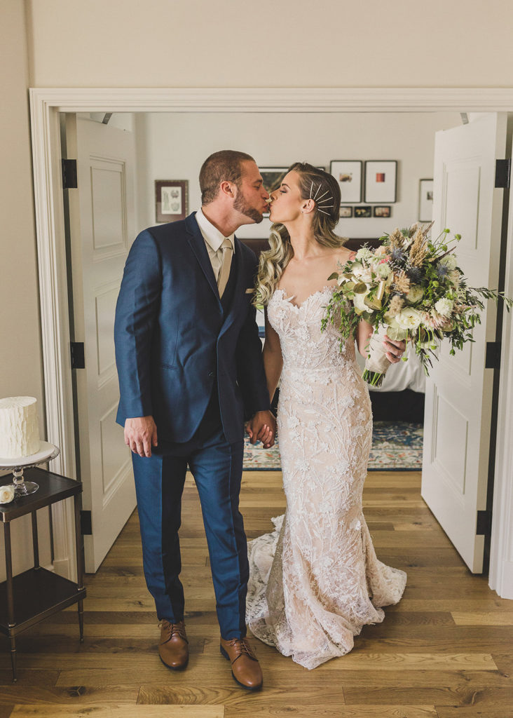 wedding portraits in Las Vegas hotel room by Taylor Made Photography