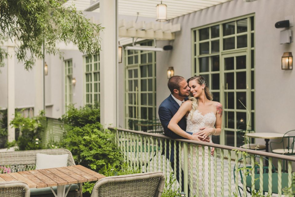 Patio wedding portraits by Taylor Made Photography