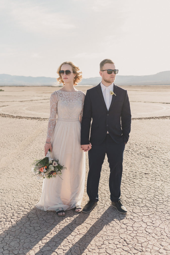 elopement portraits with sunglasses photographed by Taylor Made Photography