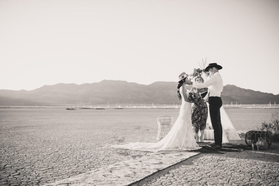 El Dorado Lake Bed elopement photographed by Taylor Made Photography