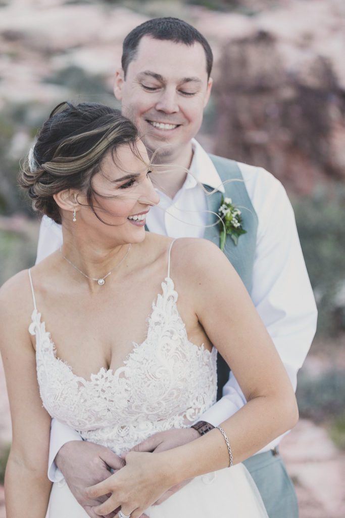 Las Vegas outdoor elopement with Taylor Made Photography