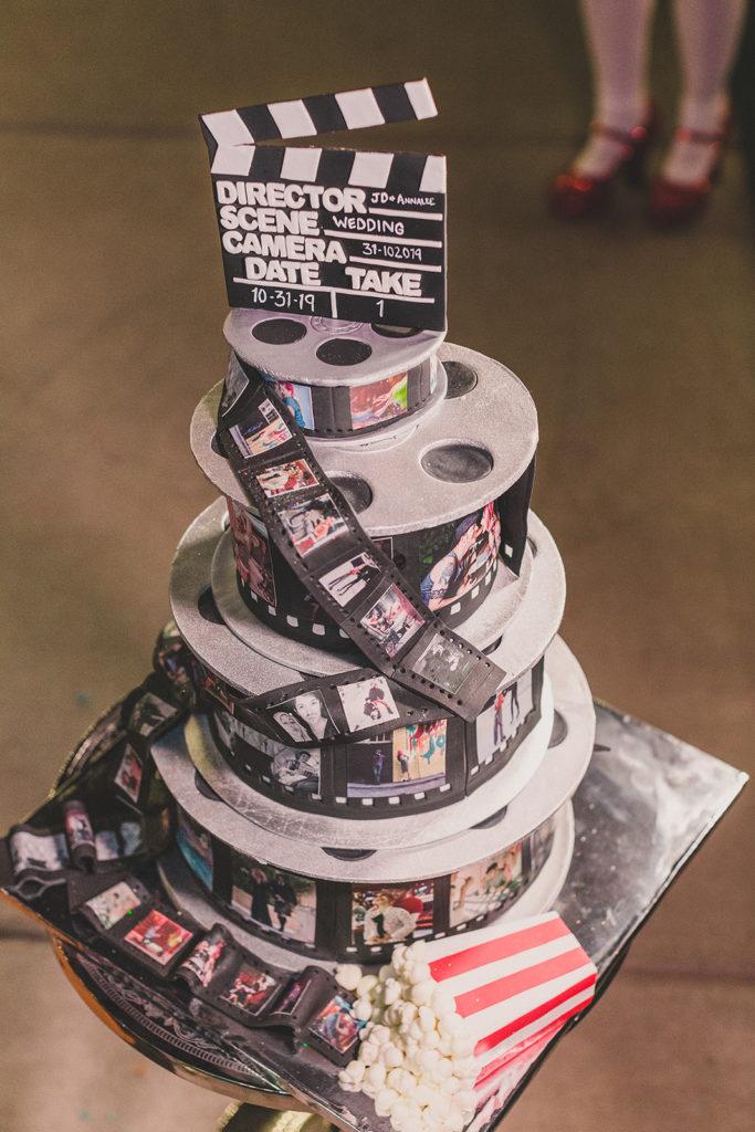Movie inspired wedding cake by Showboy Bakery