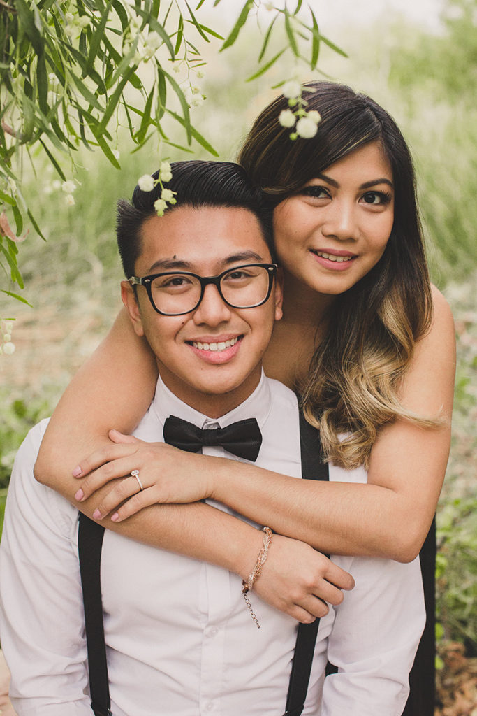 Las Vegas engagement portraits with bow tie by Taylor Made Photography