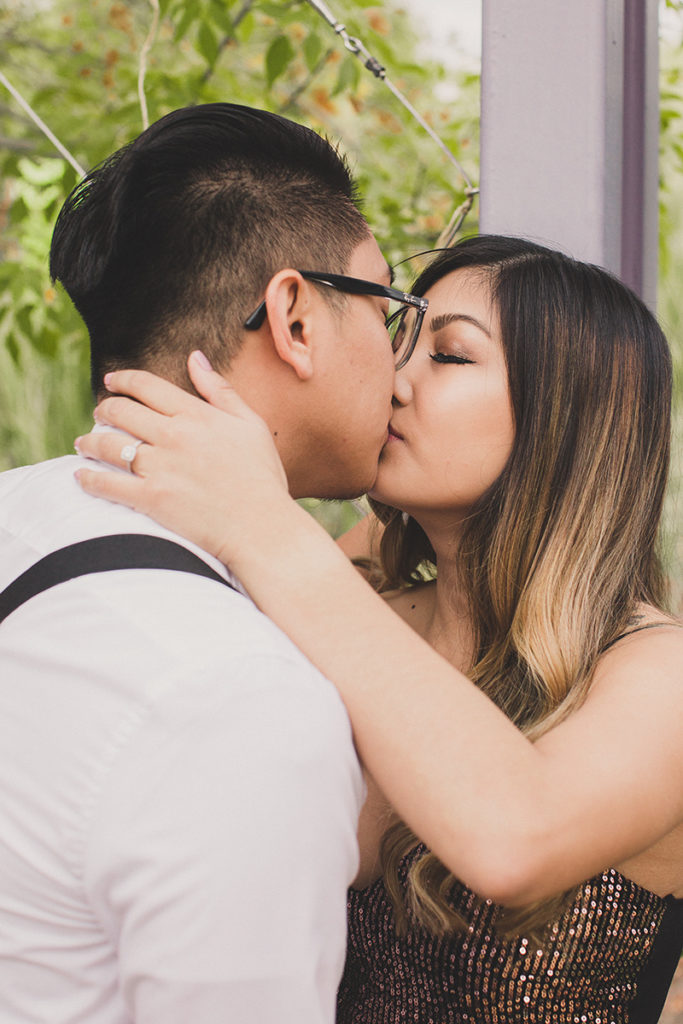 romantic Las Vegas engagement portraits with Taylor Made Photography