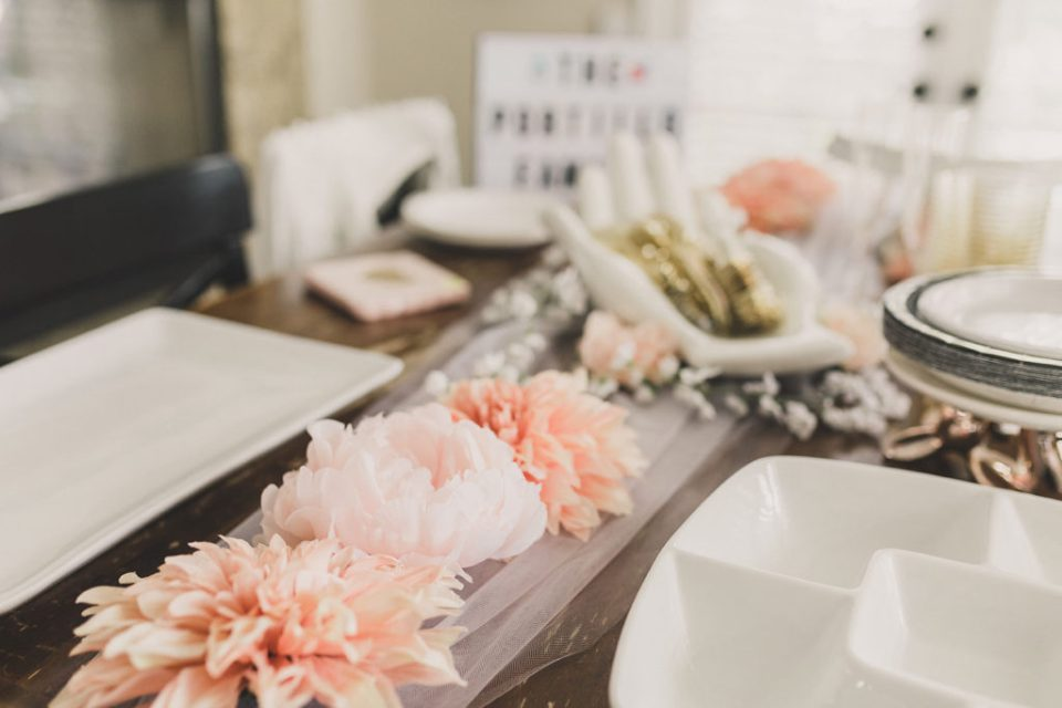 wedding reception details at home with Taylor Made Photography