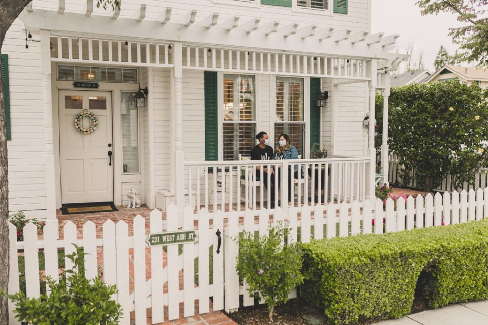 front porch wedding photographed by Taylor Made Photography