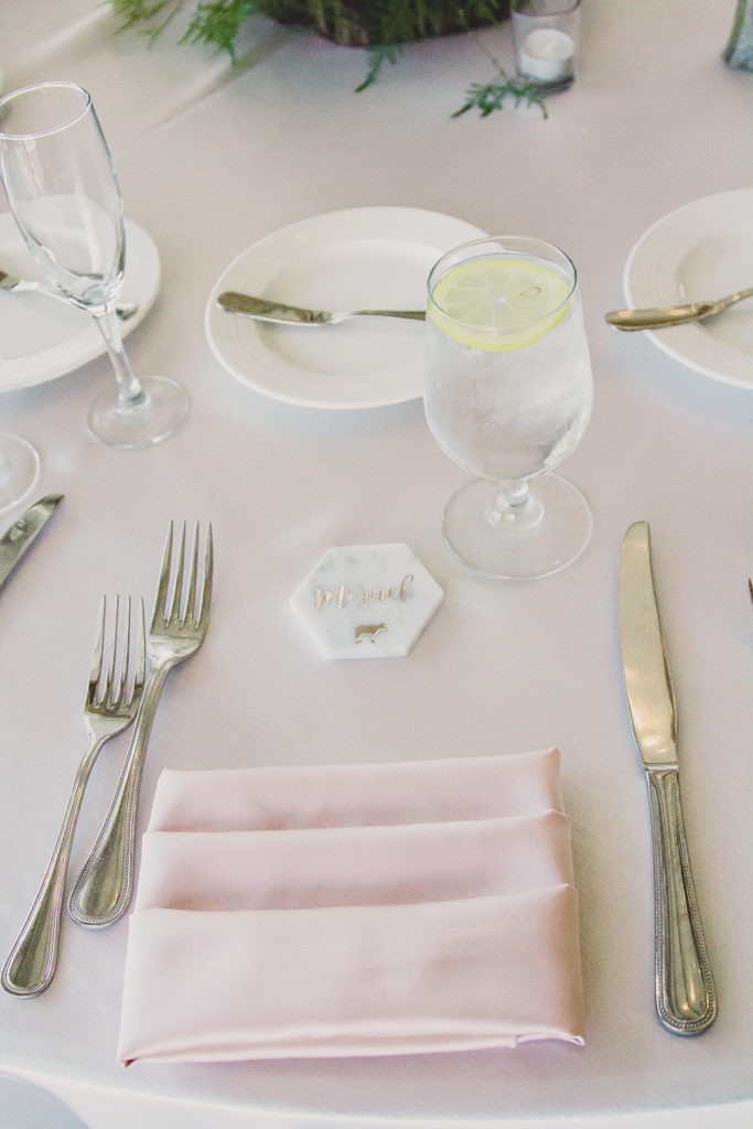 place settings for NV wedding reception photographed by Taylor Made Photography
