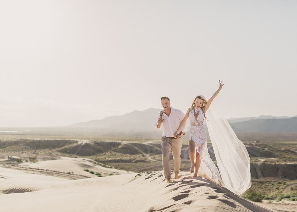 bride and groom celebrate elopement in Las Vegas with Taylor Made Photography
