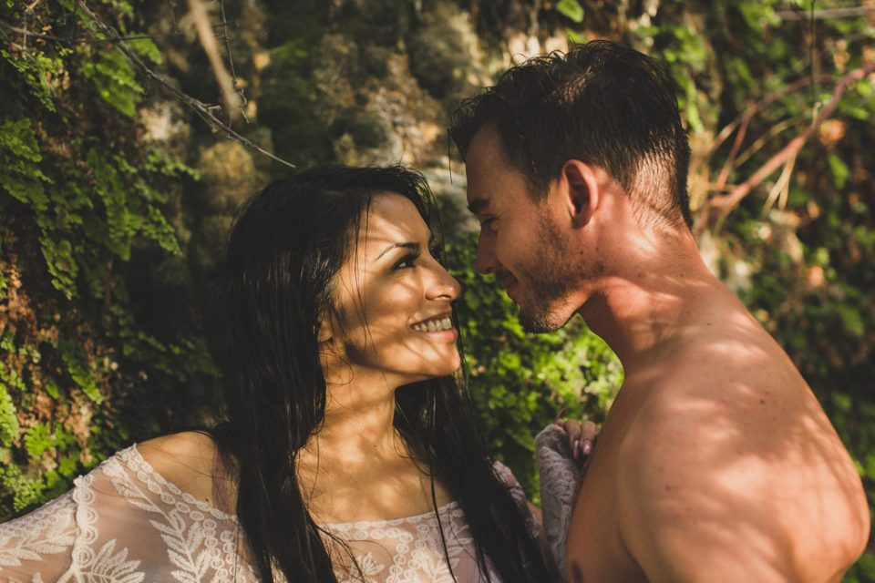 romantic couples portraits at Little Jamaica