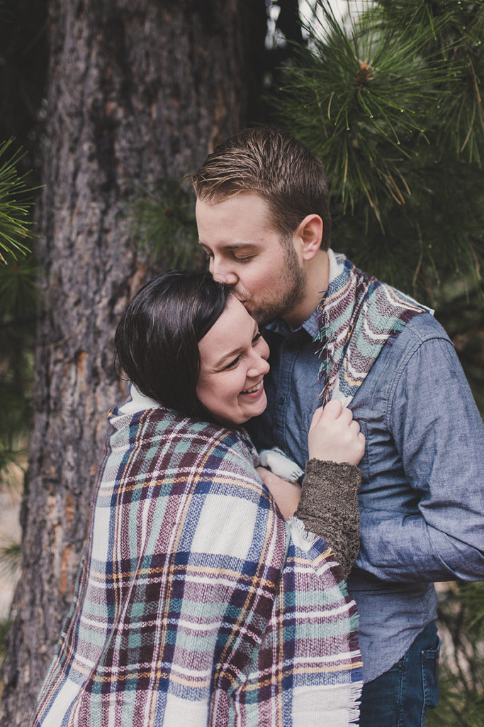 cozy engagement portraits on the mountain with Taylor Made Photography
