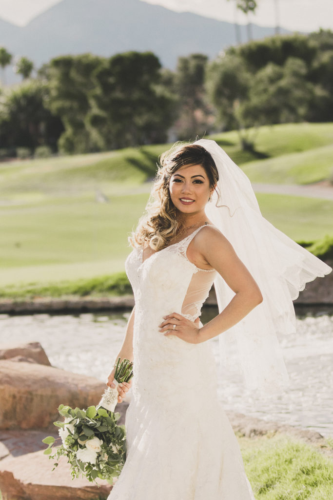 bridal portrait in Las Vegas photographed by Taylor Made Photography