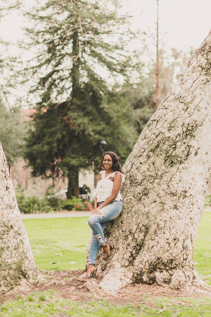 senior portraits at Pomona College with Taylor Made Photography