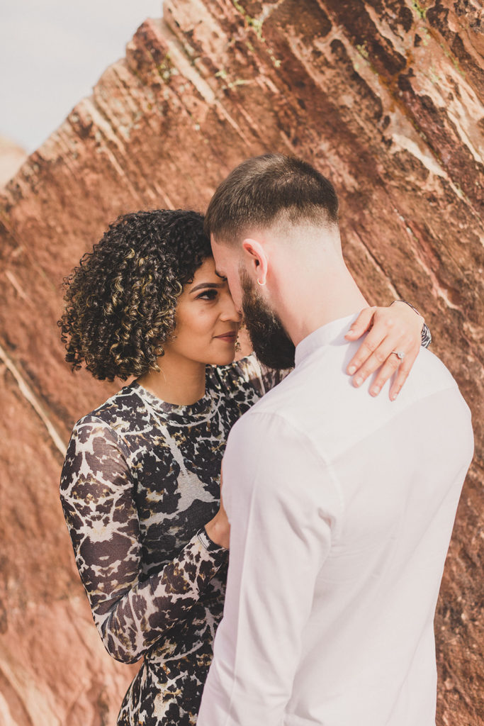 Nevada engagement session in Red Rock Canyon with Taylor Made Photography