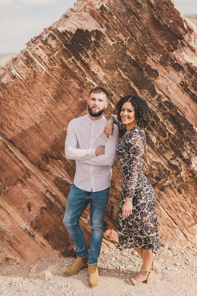 engagement portraits in Red Rock Canyon with Taylor Made Photography
