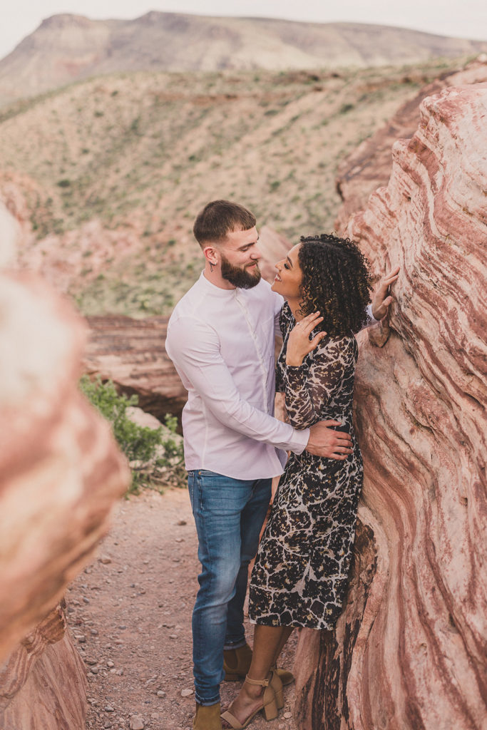 Las Vegas state park engagement session with Taylor Made Photography