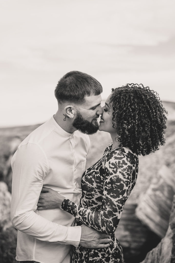 romantic engagement portraits in Las Vegas with Taylor Made Photography