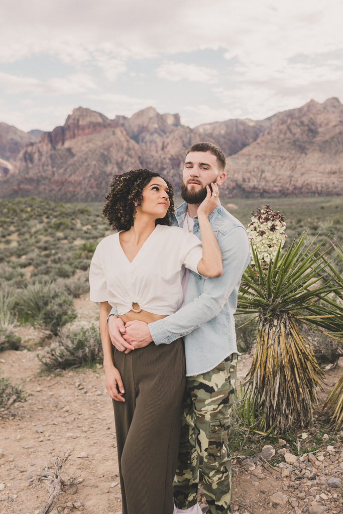engagement portraits in the desert with Taylor Made Photography