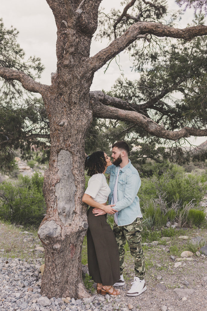 Red Rock Canyon engagement session photographed by Taylor Made Photography