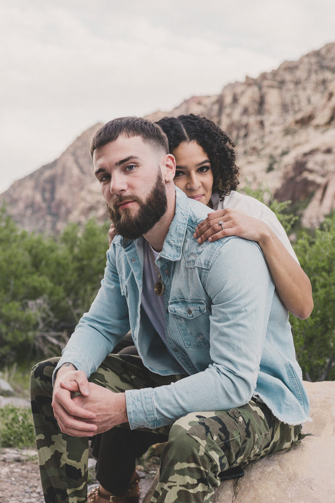 Las Vegas couple celebrates engagement with Taylor Made Photography