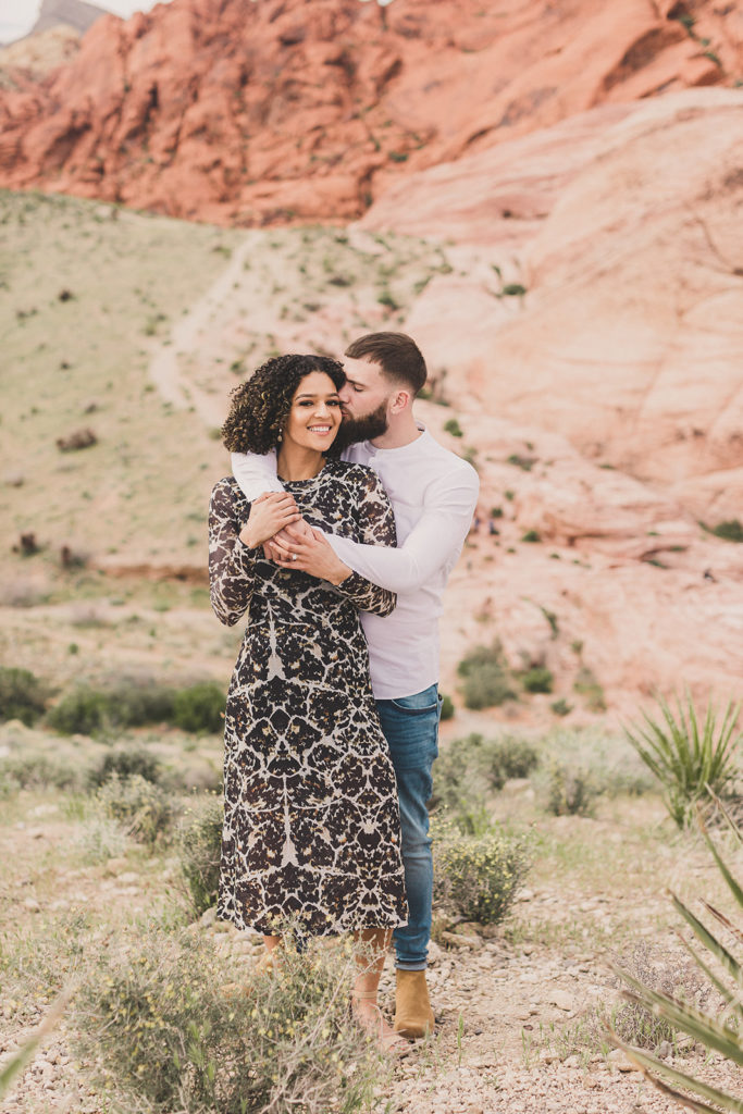 Las Vegas national park engagement session with Taylor Made Photography