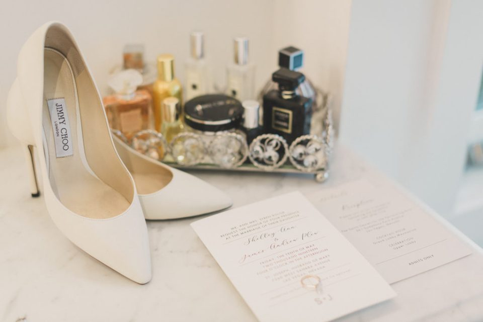 bride's details for Las Vegas wedding day photographed by Taylor Made Photography