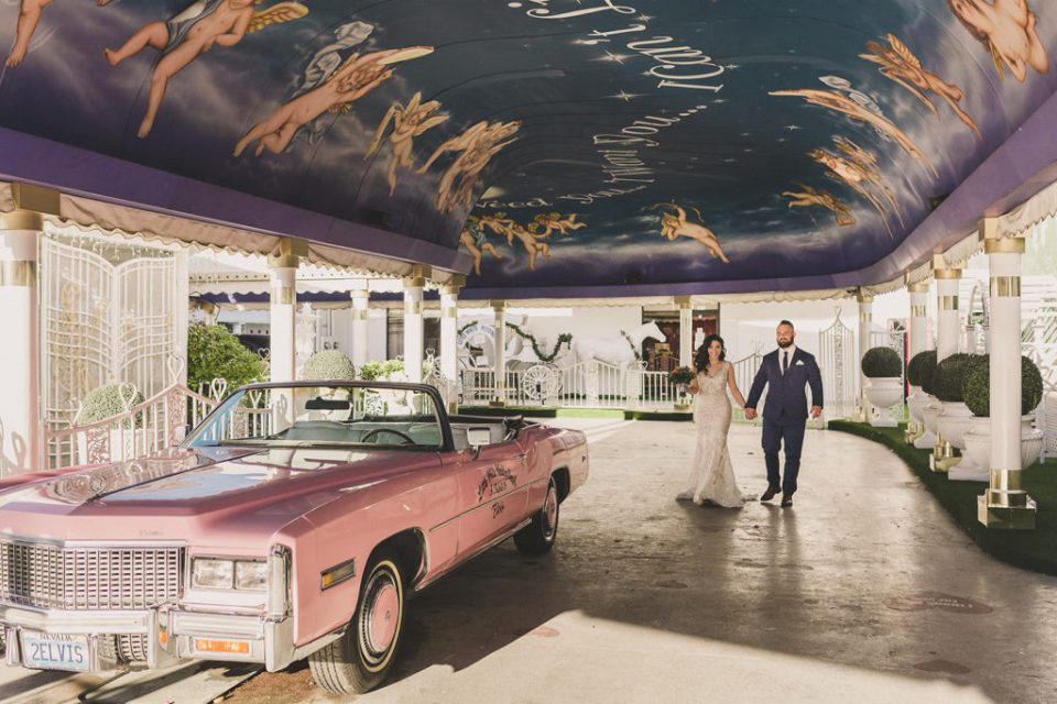 Tunnel of Love elopement in Las Vegas with Taylor Made Photography