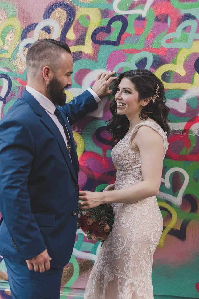 newlyweds photographed by Taylor Made Photography in Downtown Las Vegas