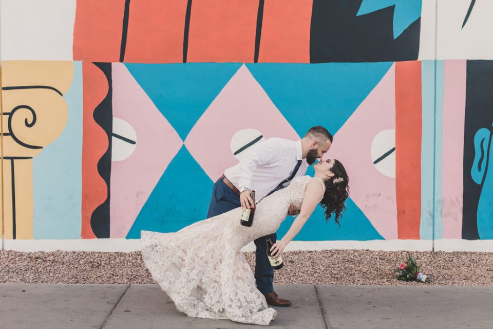 downtown wedding portraits photographed by Taylor Made Photography