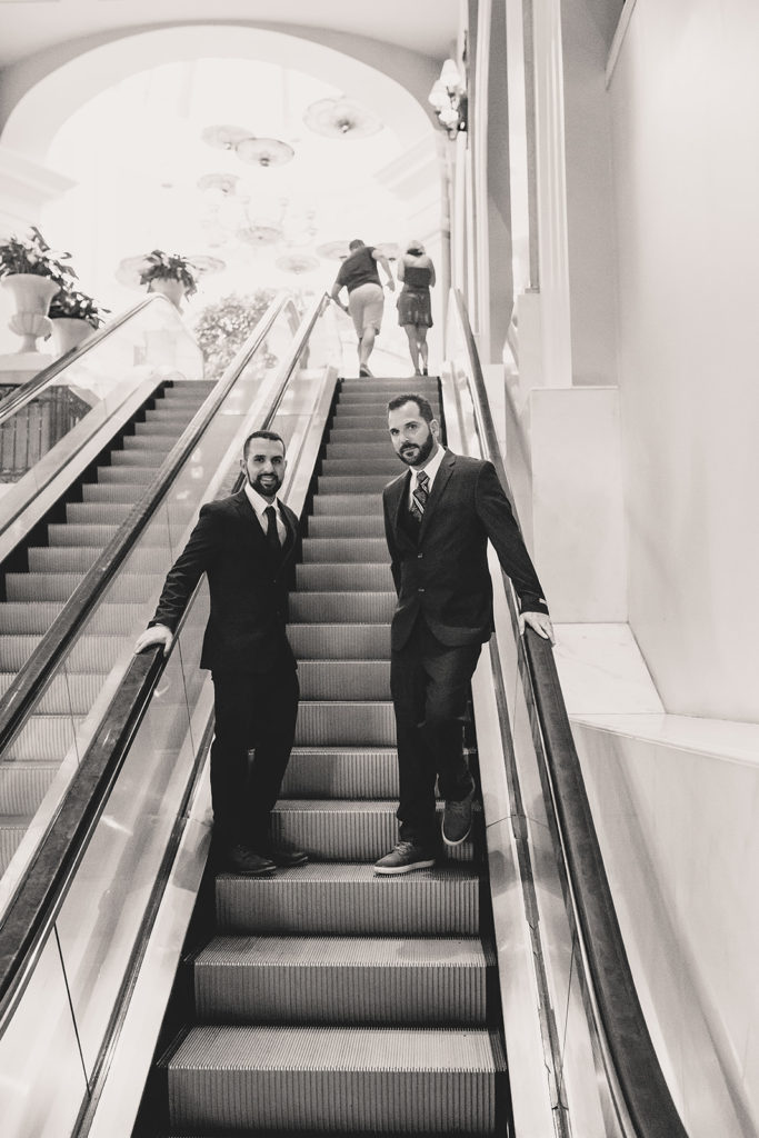 elopement portraits in ritzy Las Vegas hotel by Taylor Made Photography