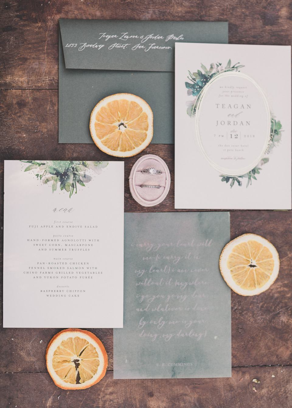 modern wedding invitation suite by Minted photographed by Taylor Made Photography