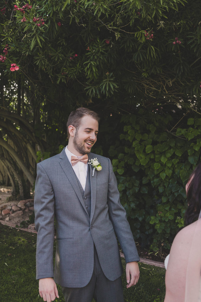 groom sees bride for the first time photographed by Taylor Made Photography