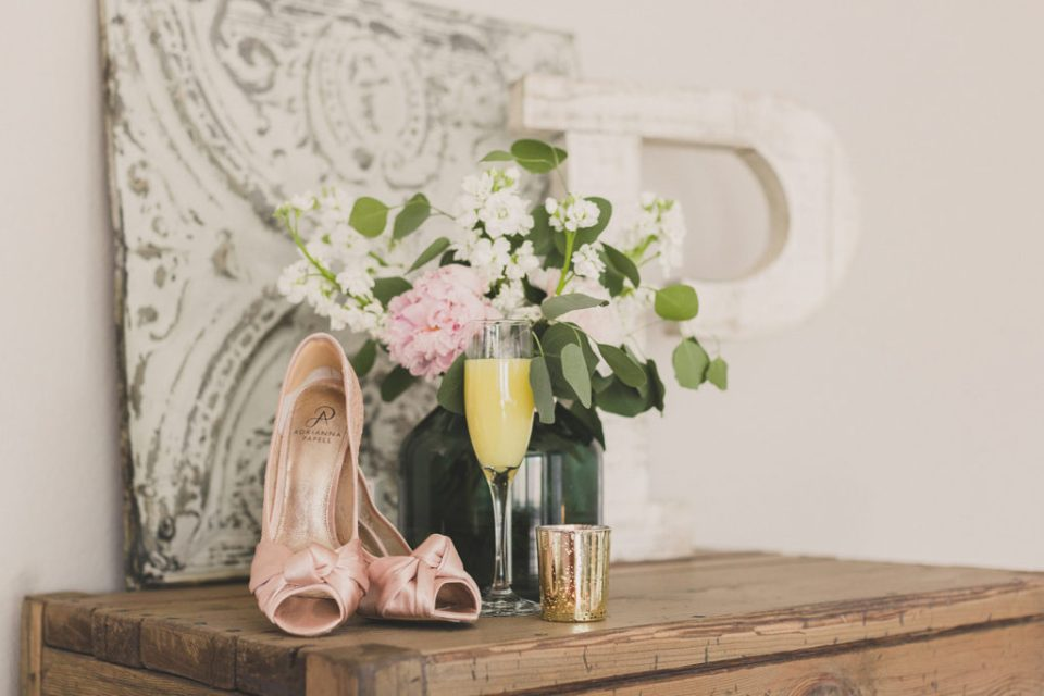 bride's details with mimosa photographed by Taylor Made Photography