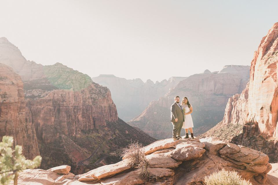 Zion National ark intimate wedding day photographed by Taylor Made Photography