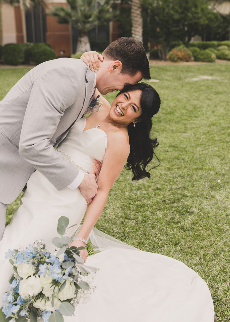 Las Vegas wedding photos of bride and groom by Taylor Made Photography
