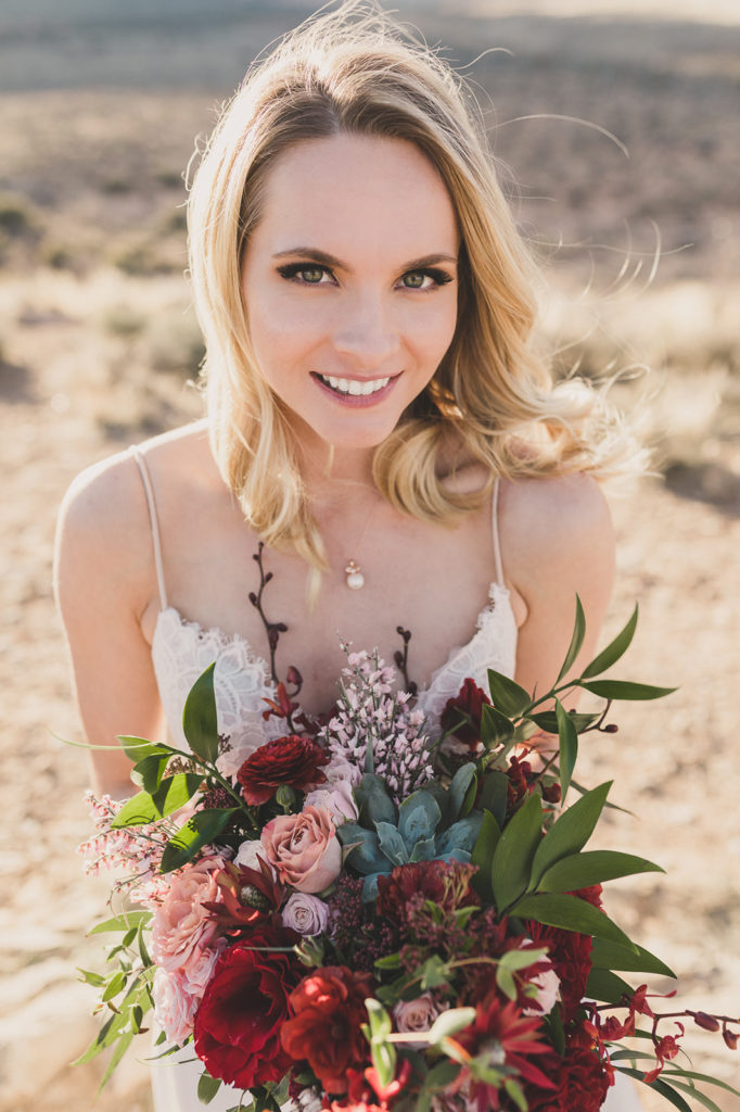 bridal portrait in Las Vegas by Taylor Made Photography