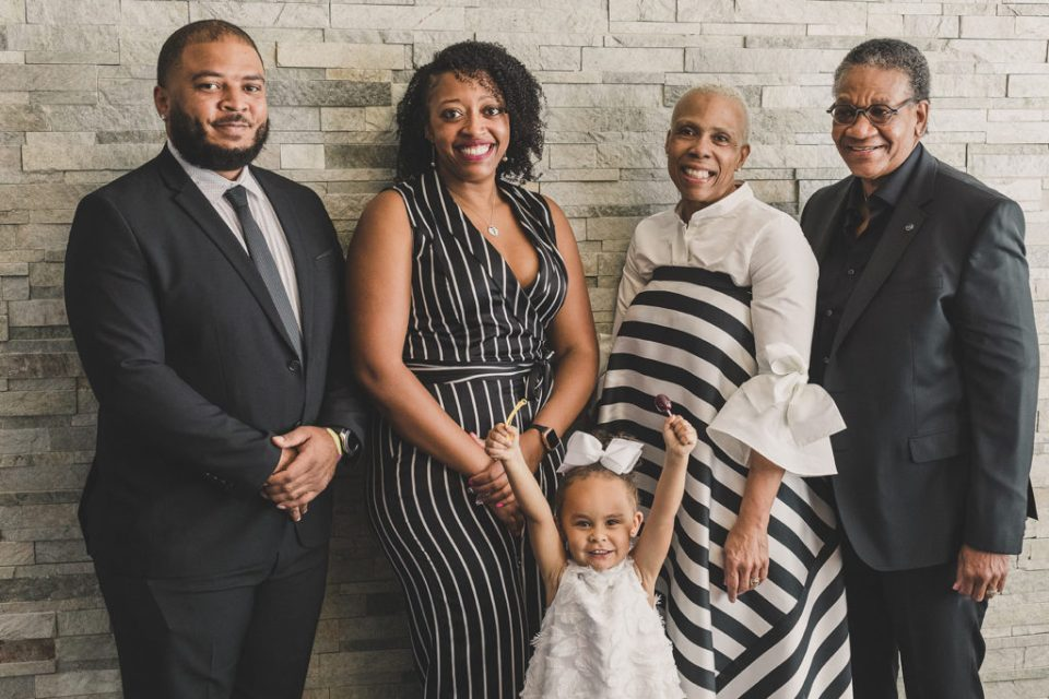 family portraits after 30 year vow renewal in Las Vegas photographed by Taylor Made Photography