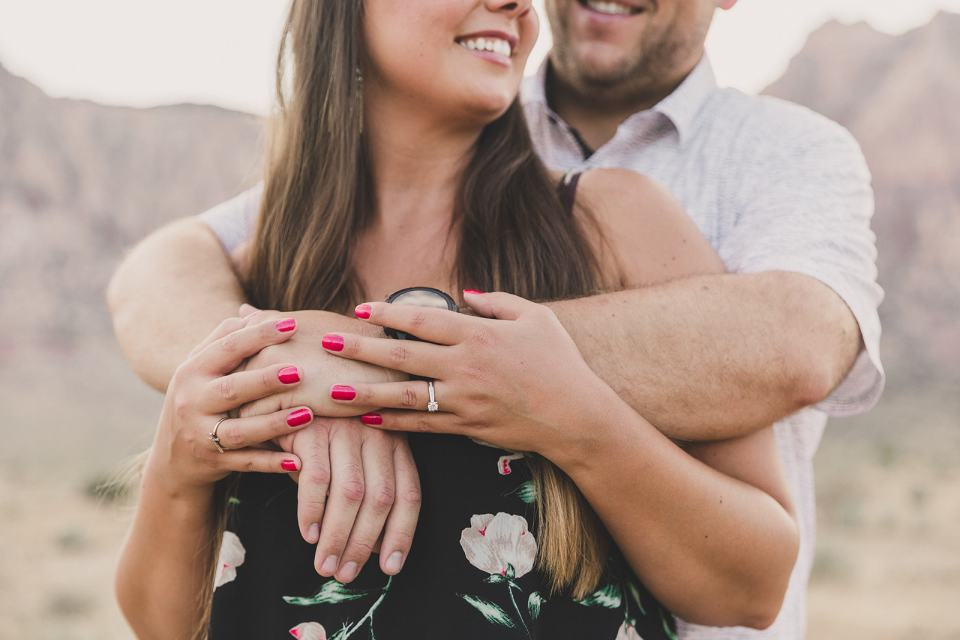 bride shows off new engagement ring in Las Vegas