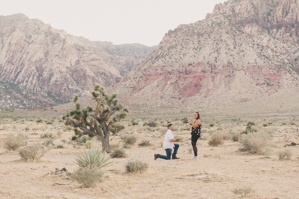 surprise First Creek Canyon Proposal  with Taylor Made Photography