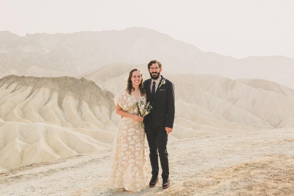 wedding portraits at Zabriskie Point