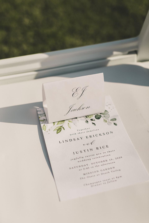 details for Death Valley elopement