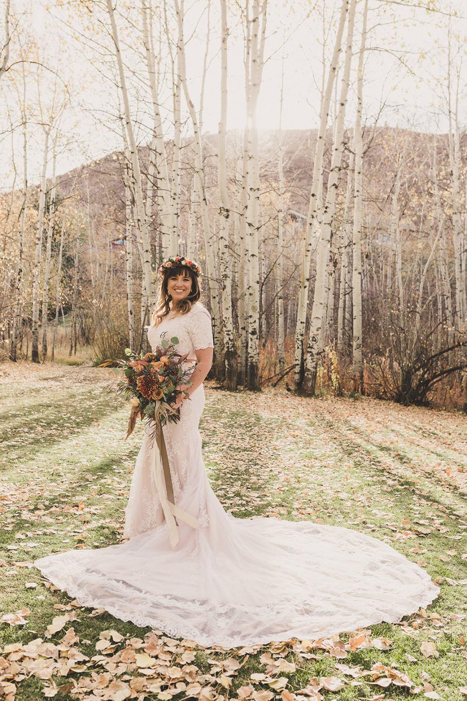Utah bridal portrait on farm in Park City