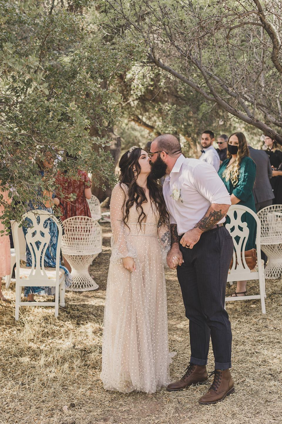 intimate wedding day in Spring Mountain Ranch