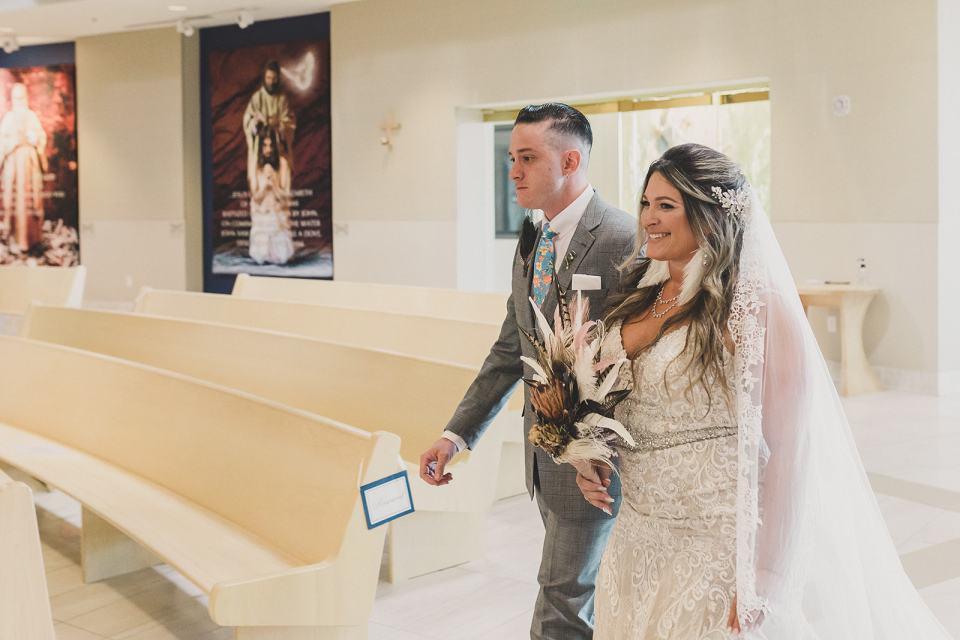 Holy Spirit Roman Catholic Church wedding in Las Vegas