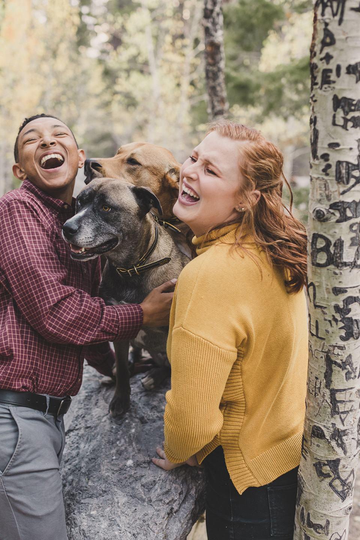 Mary Jane Falls Trail family photos in Nevada