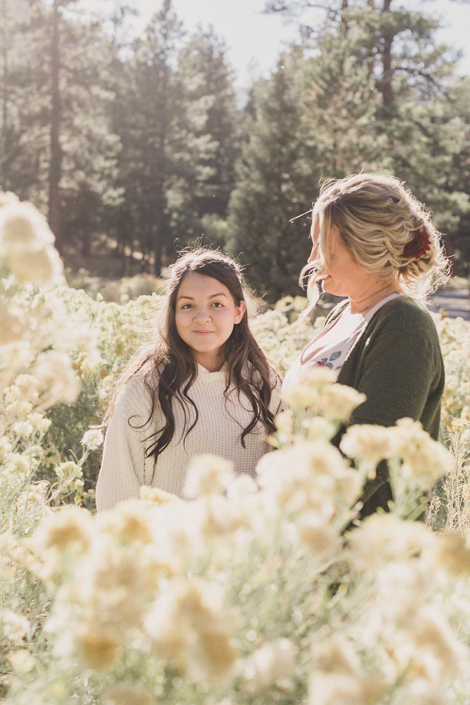 mom and daughter pose together during Mt Charleston Family Portraits