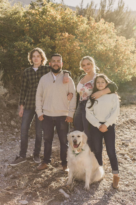 family photos in Kyle Canyon in Las Vegas