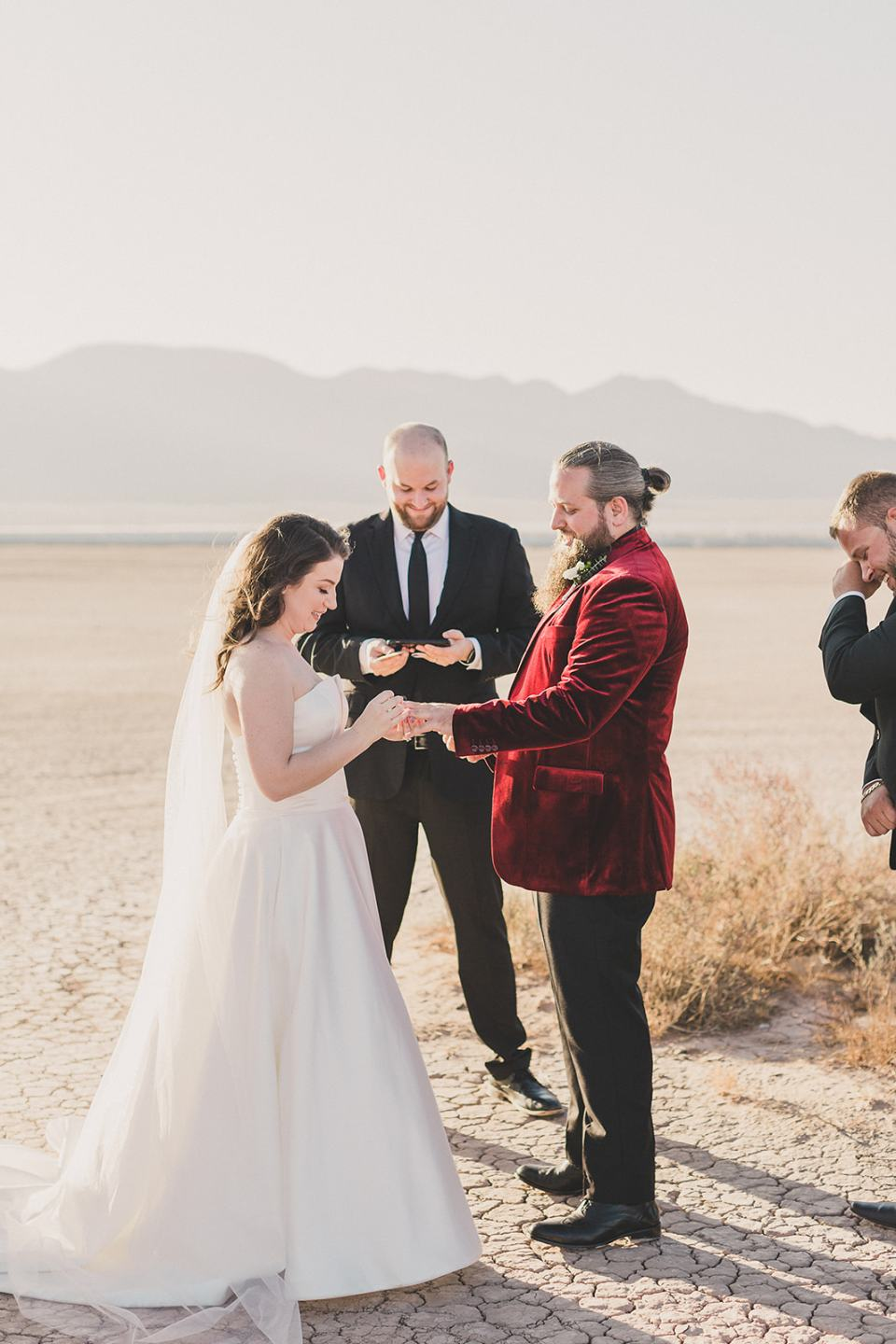 intimate wedding ceremony in Las Vegas