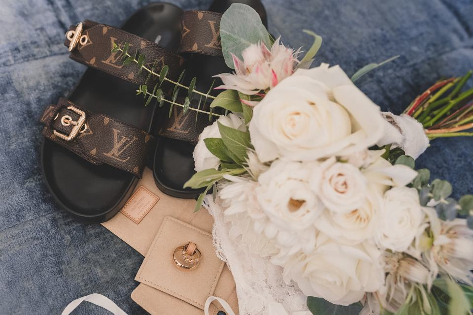 bride and groom's details for Las Vegas wedding