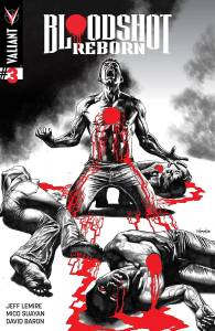 VALIANT ENTERTAINMENT LLC (W) Jeff Lemire (A) Mico Suayan, Jeff Lemire (CA) Mico Suayan The all-new ongoing series from New York Times best-selling writer Jeff Lemire (THE VALIANT) and rising star Mico Suayan (HARBINGER) reaches a blood-curdling turning point! Bloodshot is hot on the trail of another mysterious mass-murderer - but he may find the only way to stop this madman is to do the one thing Bloodshot swore he would never do again. Can Bloodshot resist his past or will he succumb to the bloodthirsty voices in his head as they get louder...and more violent? Item Code: APR151757