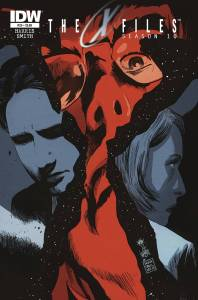 "Publisher: IDW PUBLISHING (W) Joe Harris (A) Matthew Dow Smith (CA) Francesco Francavilla Double-sized finale of ""Season 10!"" Clandestine plans come to a roaring boil as things heat up for Mulder and Scully, who will never be the same after this issue! Item Code: APR150390"